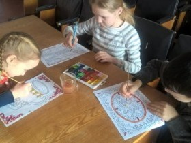 Работники Надеждинского СК провели с детьми красивое и увлекательное занятие мастер – класс «Узоры земли башкирской».